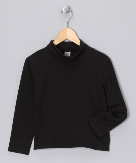 Black Turtleneck - Toddler & Girls