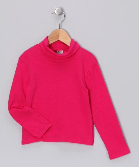 Fuchsia Turtleneck - Toddler & Girls