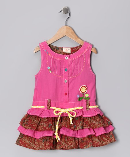 Pink Ruffle Tiered Dress - Infant, Toddler & Girls