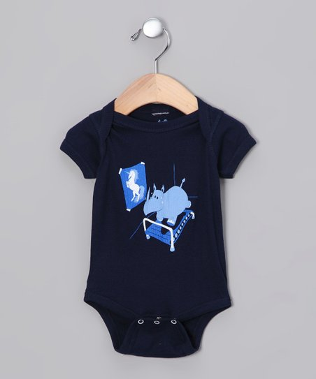 Navy Runnin' Rhino Bodysuit - Infant