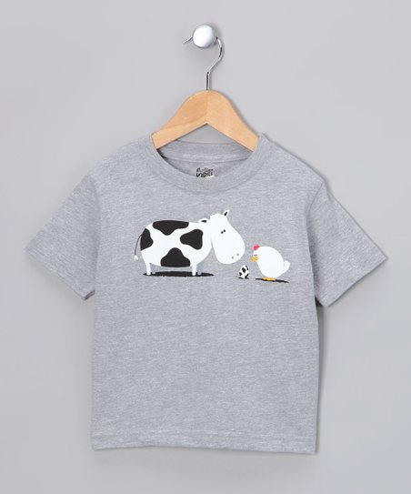 Heather Gray A Birth Day Tee - Toddler & Kids
