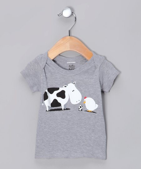 Heather Gray A Birth Day Tee - Infant