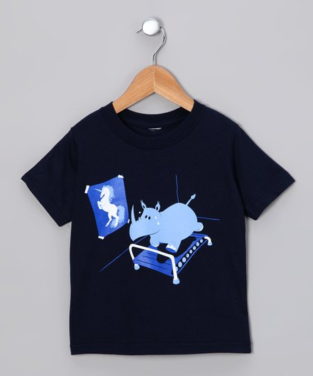 Navy Runnin' Rhino Tee - Toddler & Kids