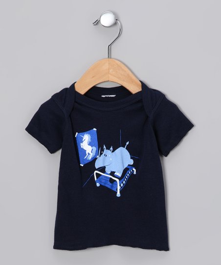 Navy Runnin' Rhino Tee - Infant