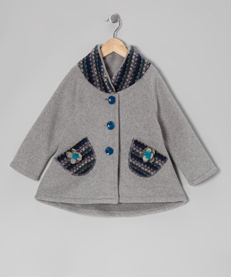 Heather Gray Pocket Swing Coat - Infant