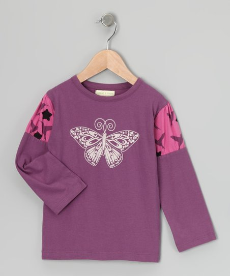 Petunia Butterfly Organic Puff-Sleeve Tee - Infant