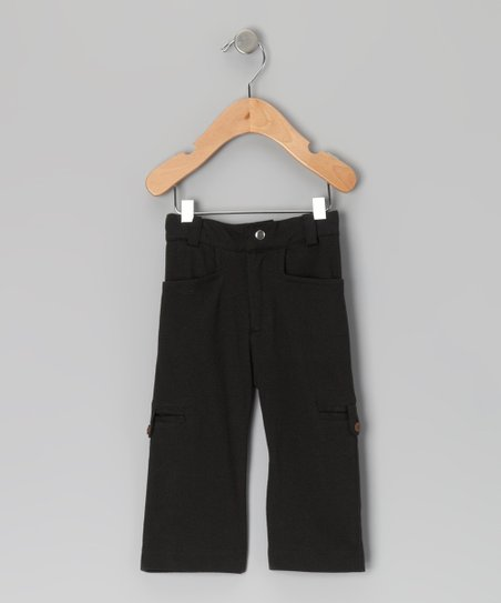 Black Military Organic Pants - Infant