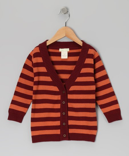 Russet Stripe Sweater Organic Cardigan - Infant &amp; Toddler