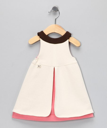 Natural & Dusty Pink Everyday Organic Dress - Infant, Toddler & Kids