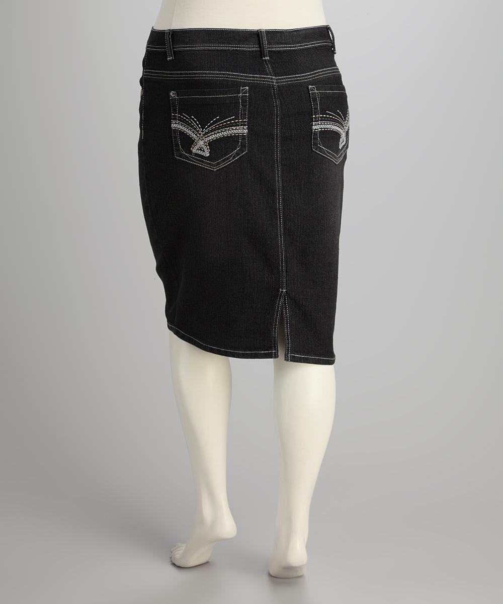 starwear blue denim plus size skirt zulily