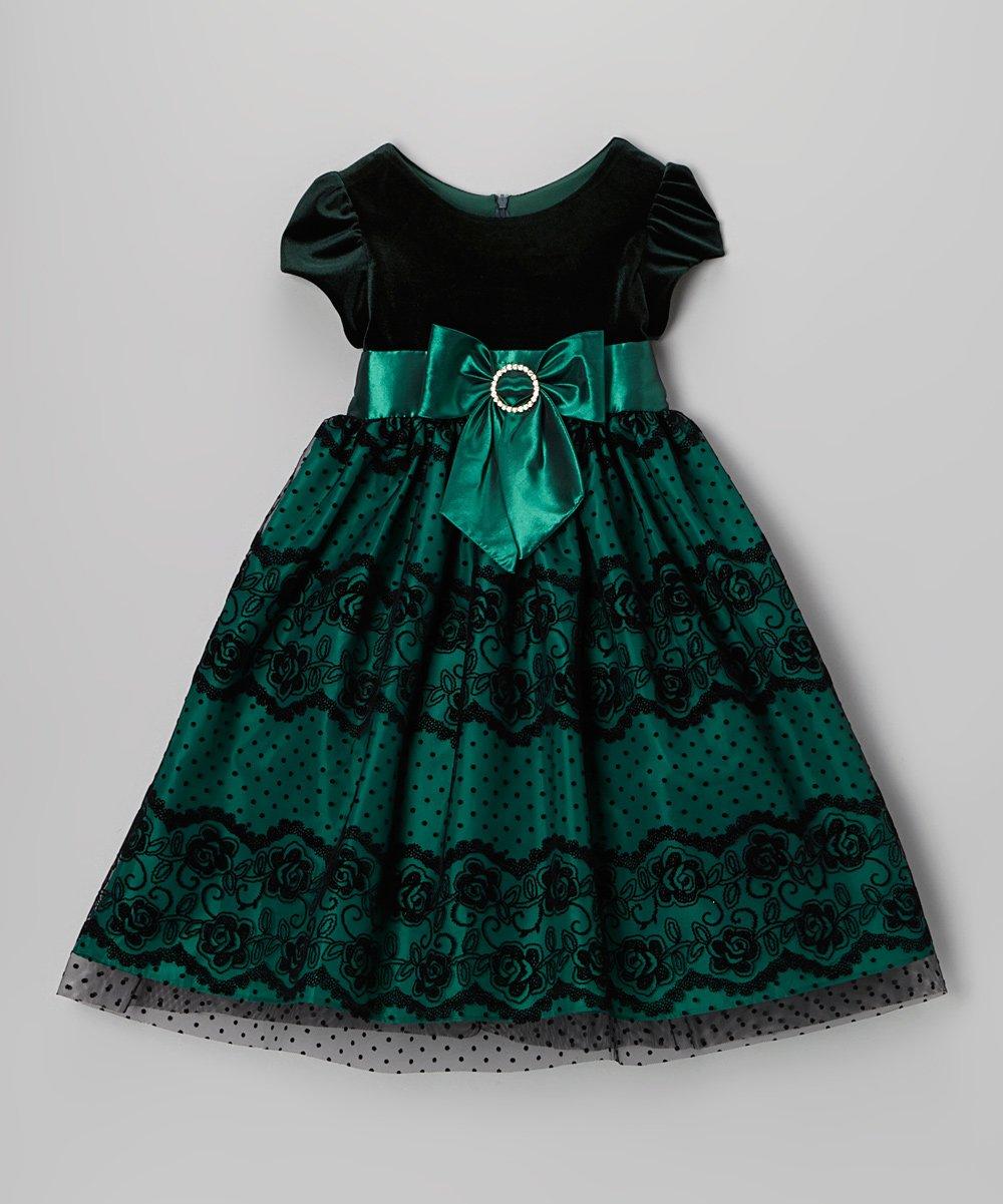 Green Christmas Dress Toddler image