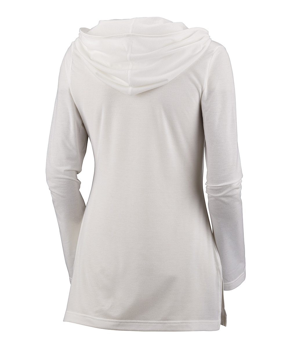 Columbia White Reel Beauty Cowl Neck Hoodie - Women | zulily