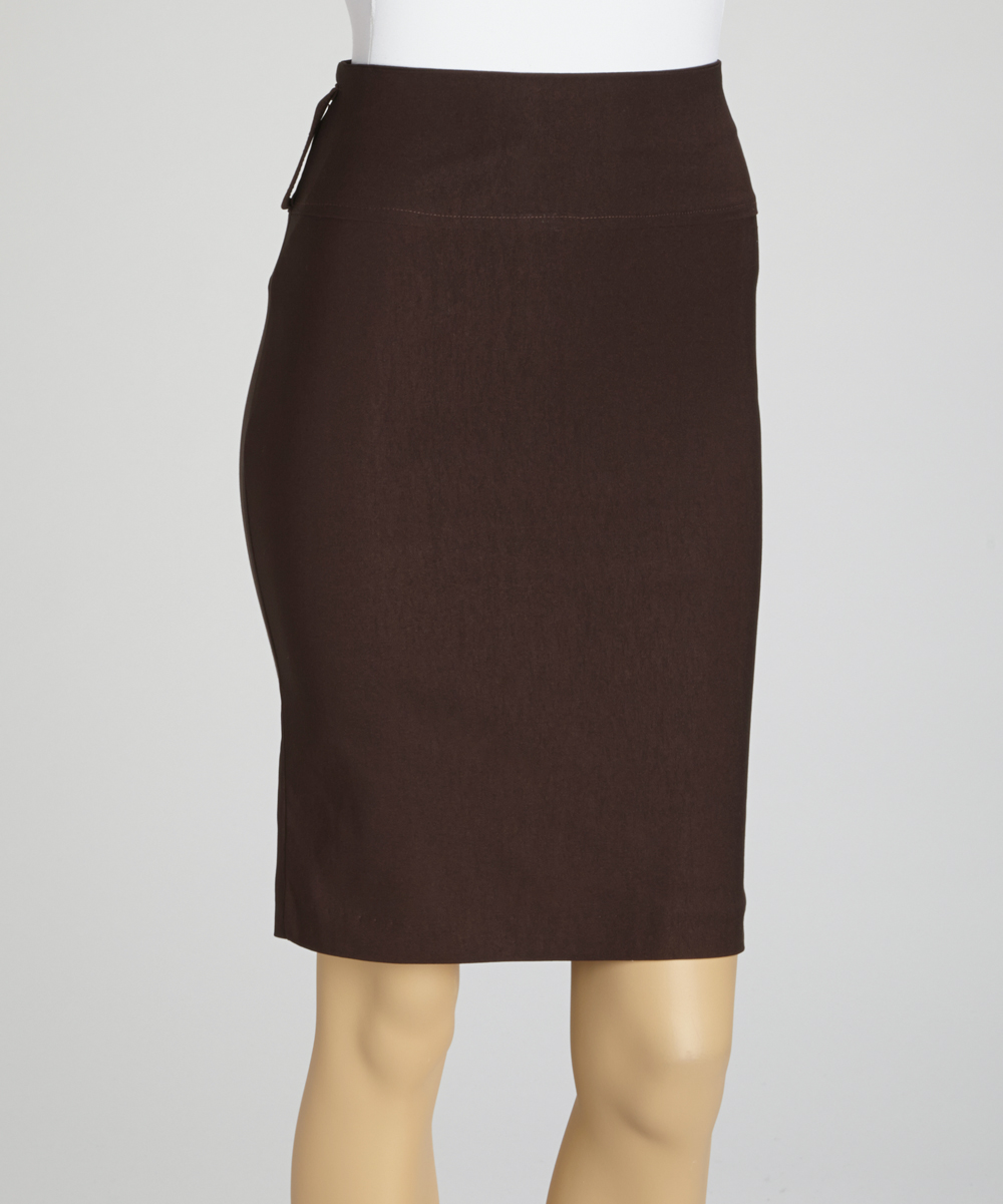 wall brown pencil skirt plus zulily