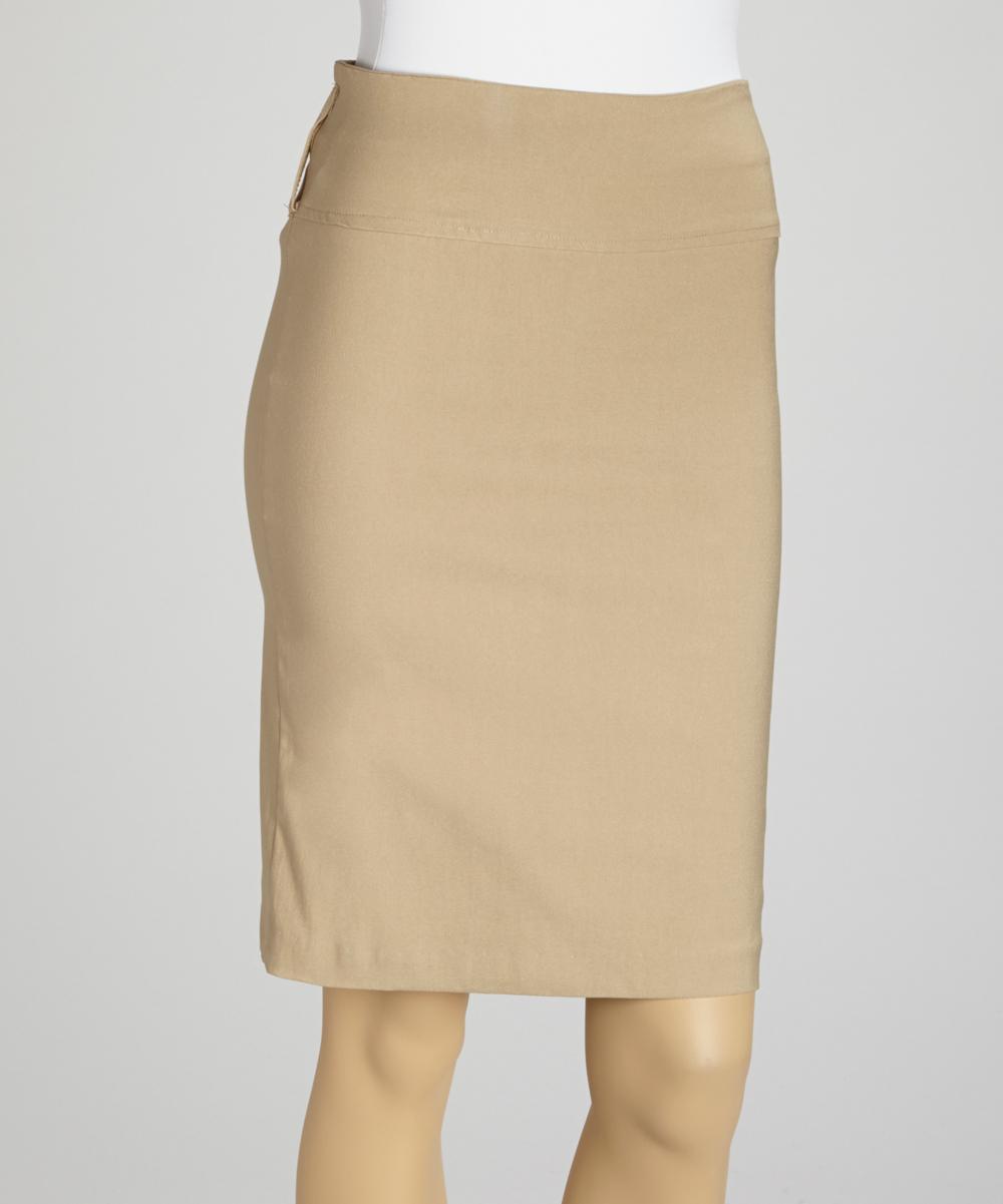 wall beige pencil skirt zulily