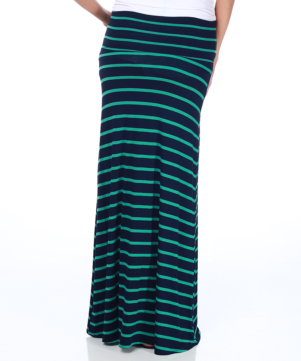 pinkblush maternity navy blue green stripe maternity