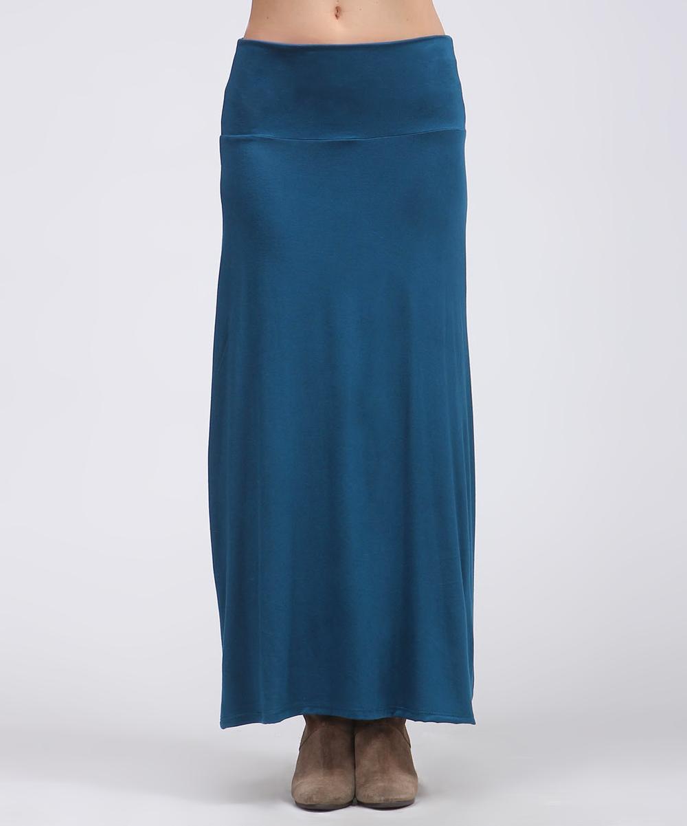 teal maxi skirt zulily