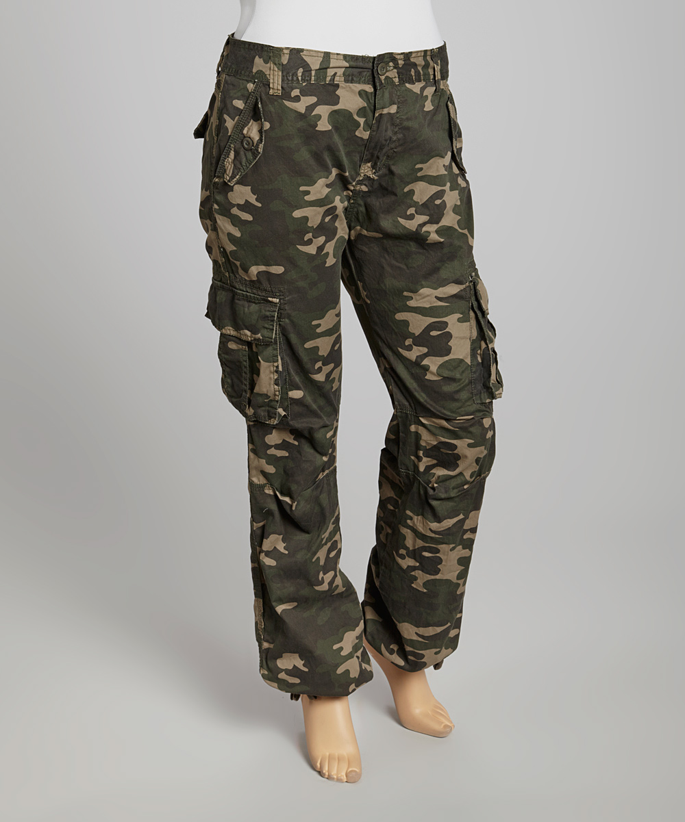 Camo cargo pants for juniors