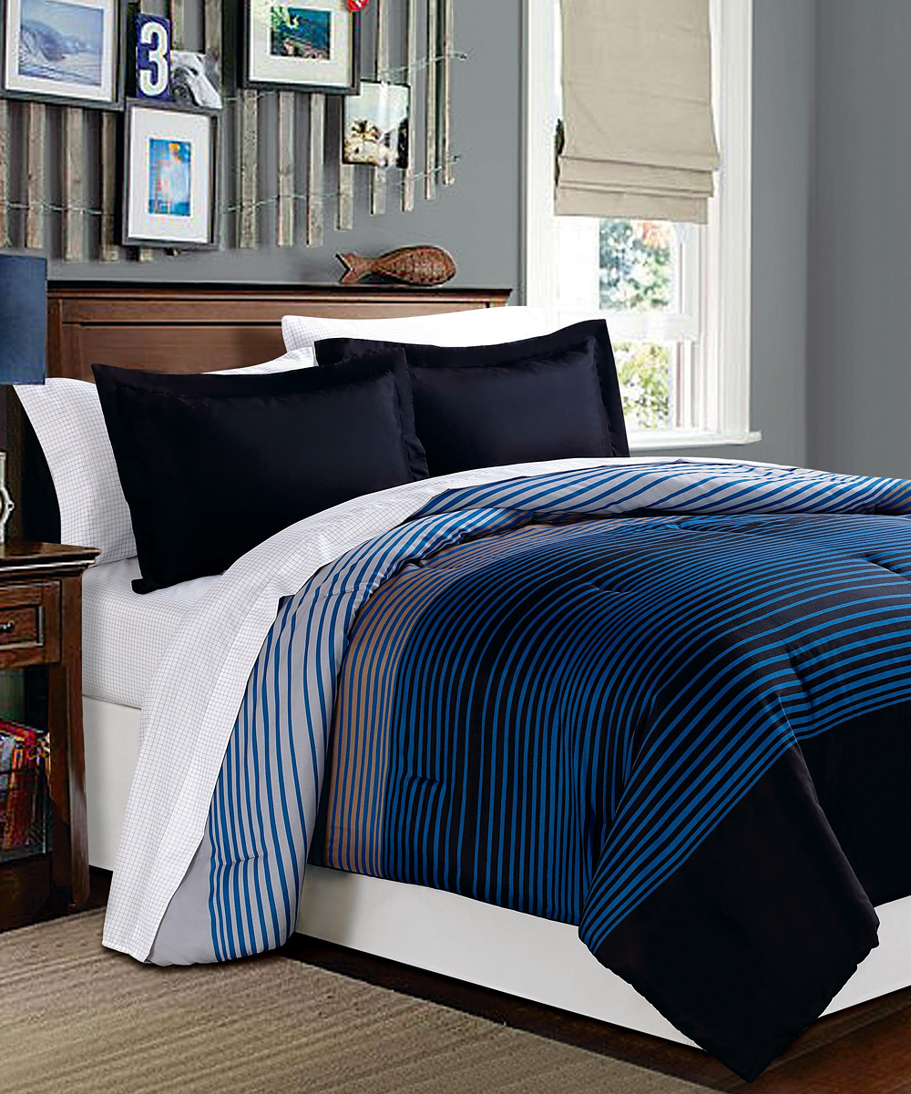 xoxo blue brown u s polo mod ombre bed in a bag set zulily