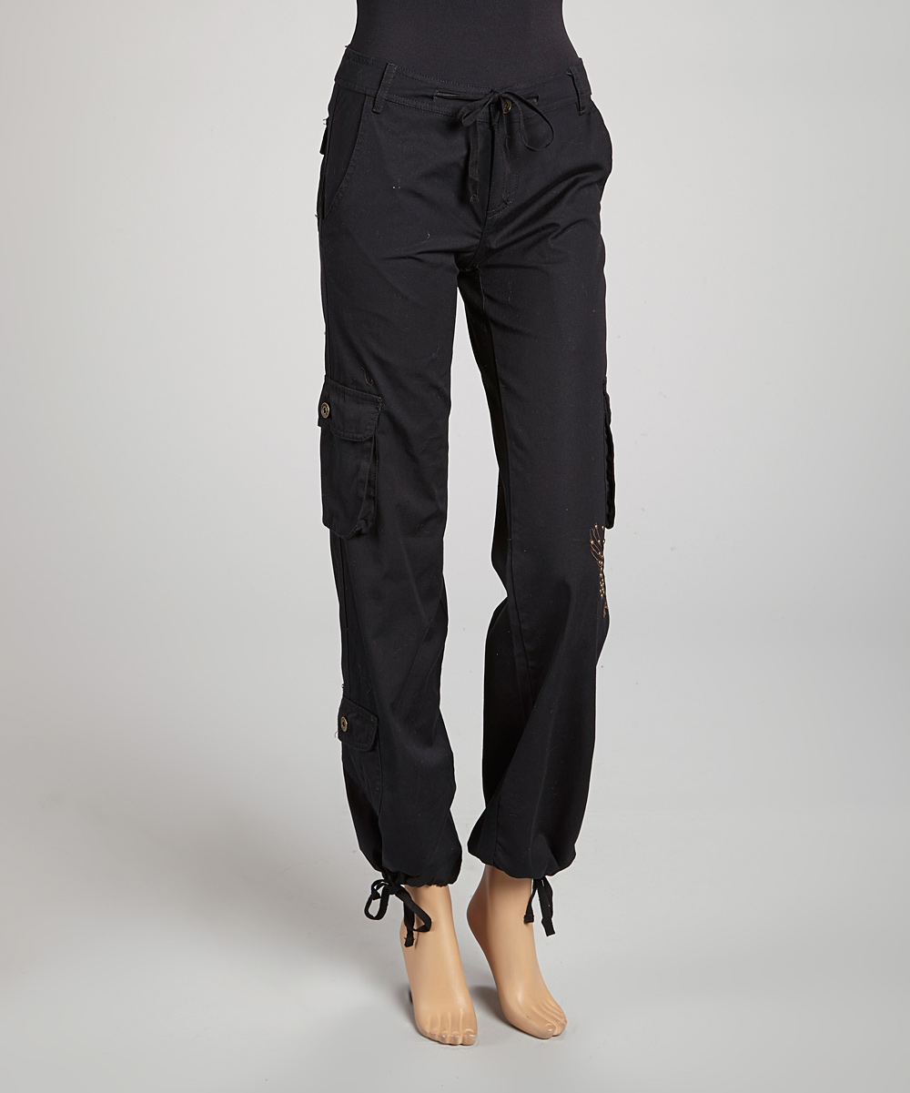 Wonderful Fornarina Women39s Black Thick Cargo Pants  Free Shipping Today