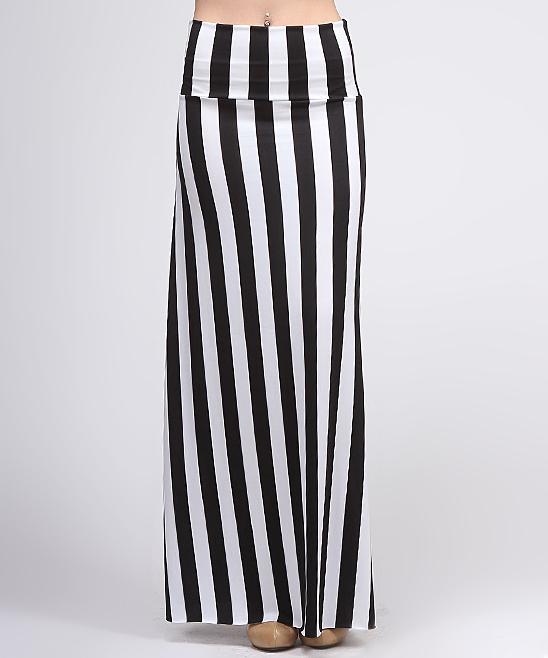 black vertical stripe maxi skirt zulily