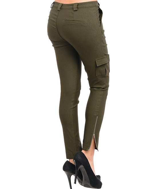 Beautiful Stanzino Women39s Plus Size Olive Skinny Leg Cargo Pants  14211056