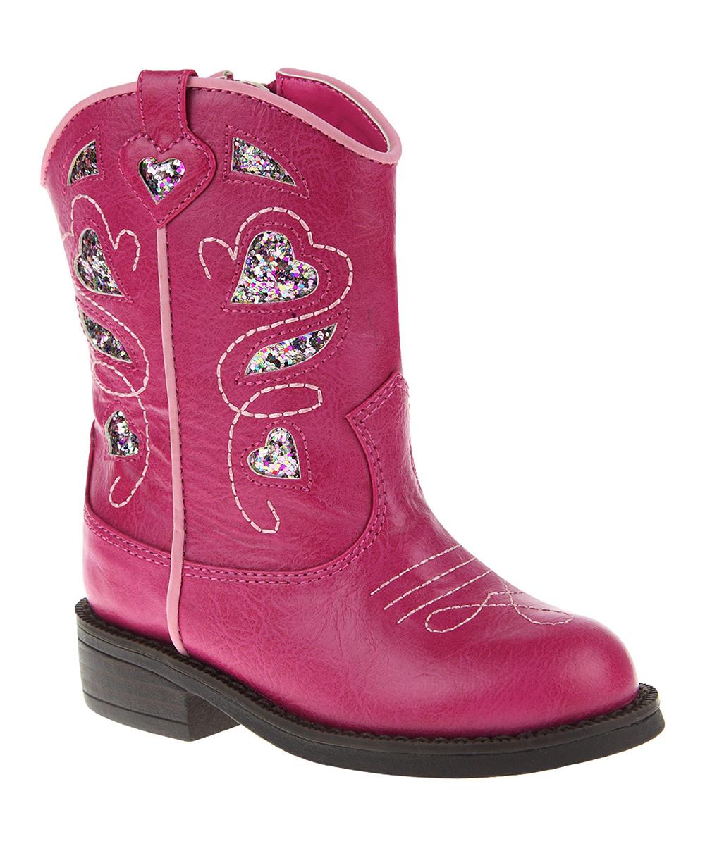 ruum pink glitter boot zulily