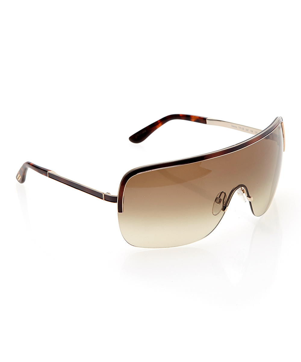 Tom Ford Tortoise Shield Frameless Sunglasses zulily