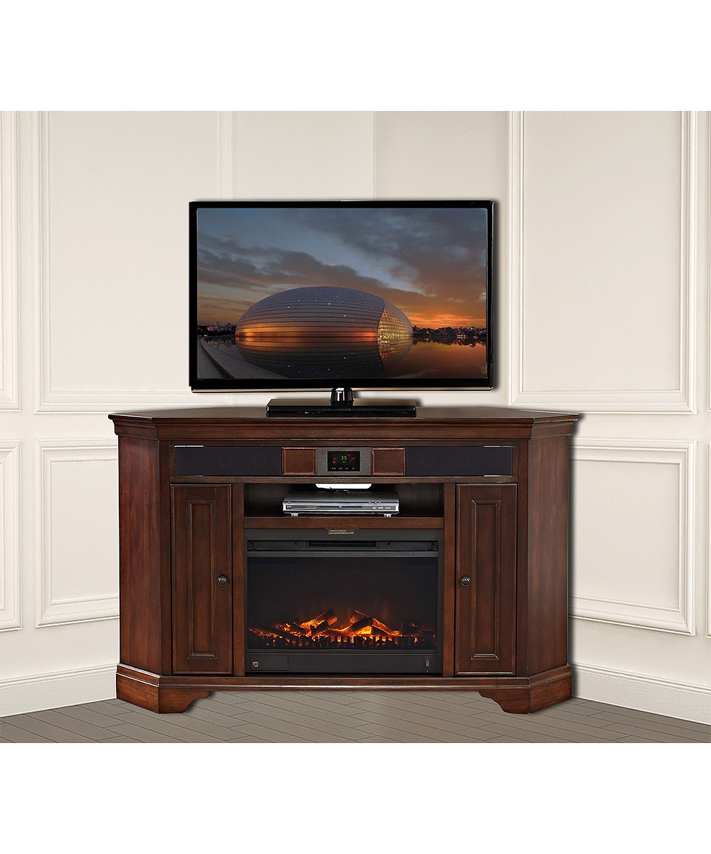 Turnkey And Eready Deveraux Cherry Corner Home Entertainment Unit Fireplace Zulily