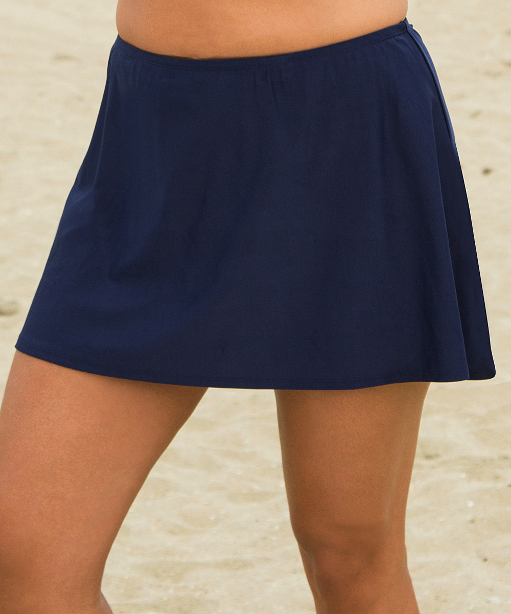 aquabelle navy skirted bottoms plus zulily