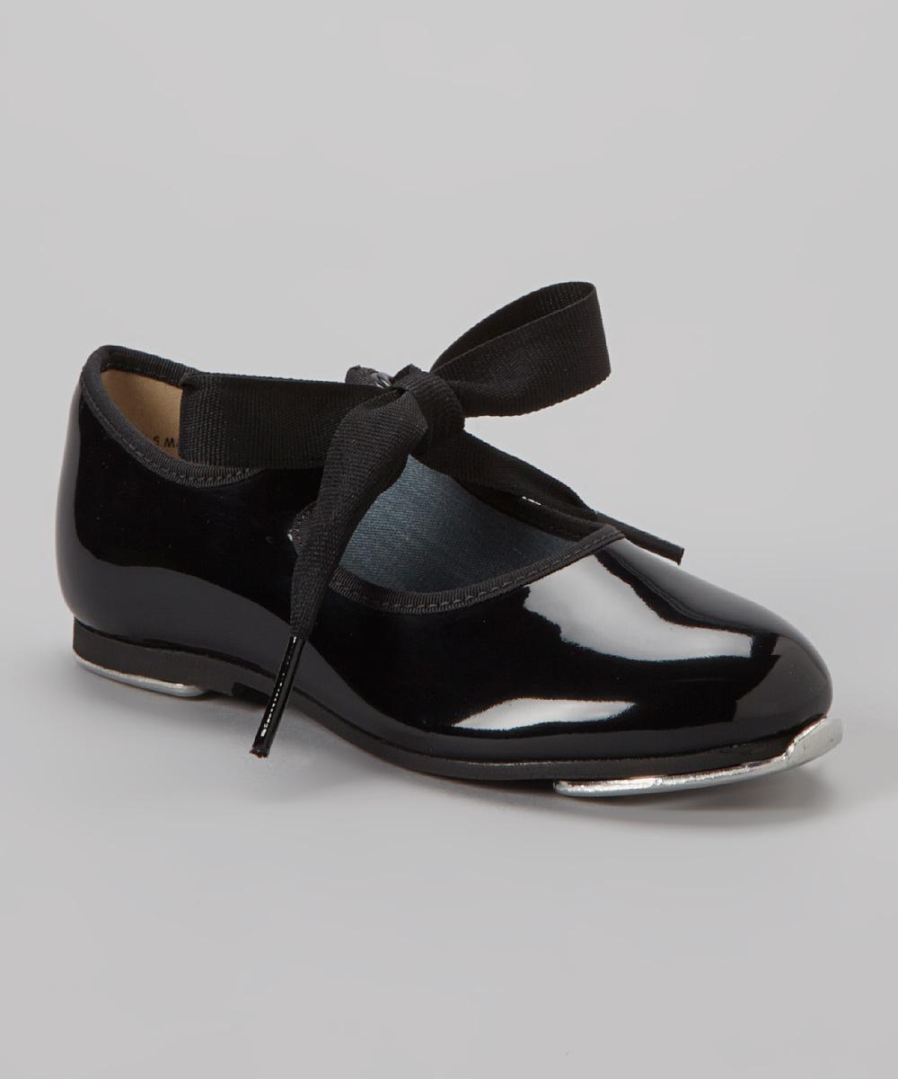 Black Theo Tie Tap Shoe - Kids | zulily
