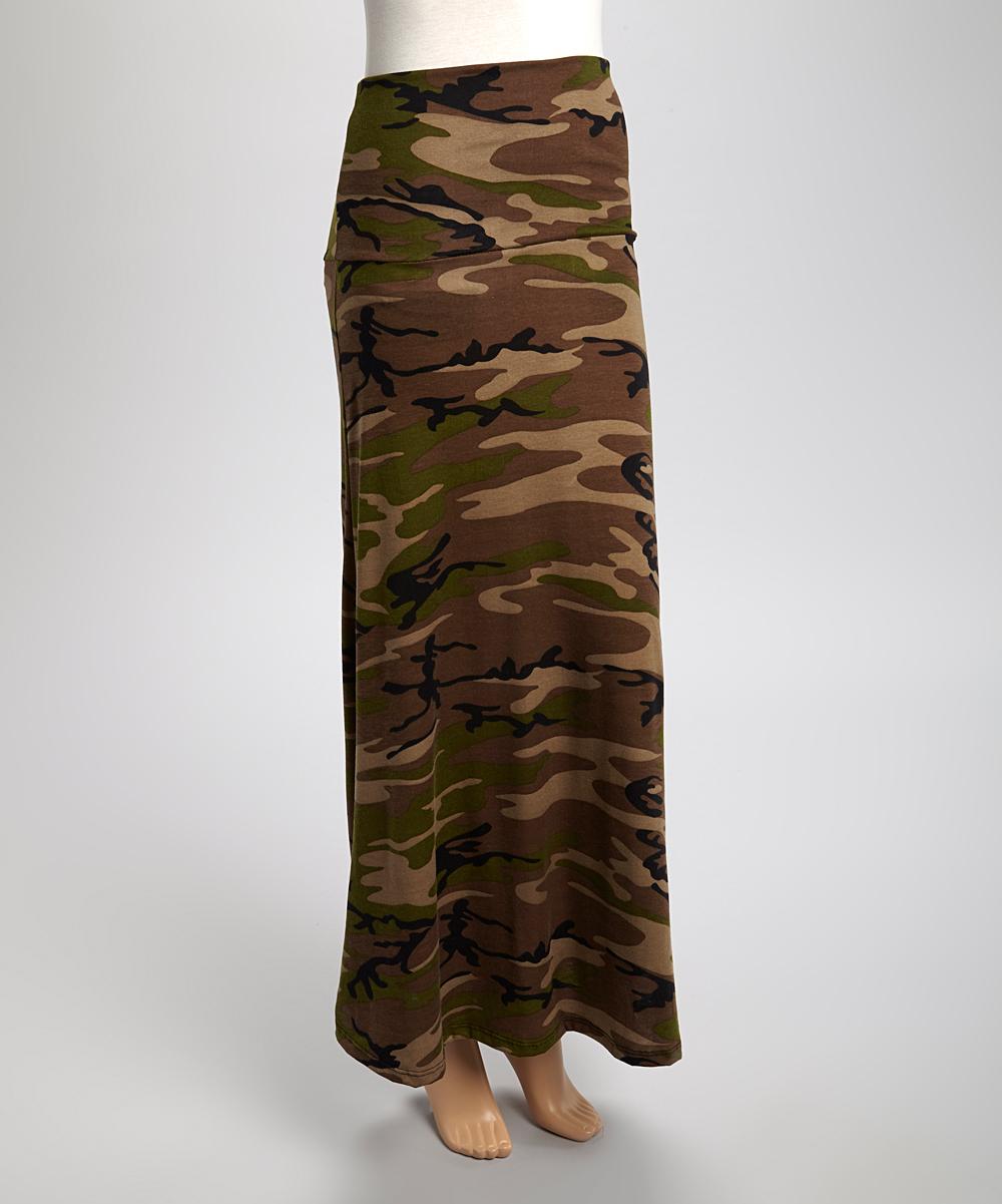 original camo fold maxi skirt zulily