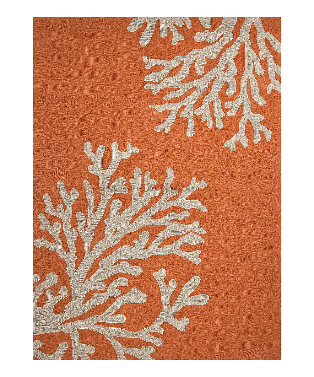 Jaipur Rugs Orange & White Coral Reef Indoor Outdoor Rug