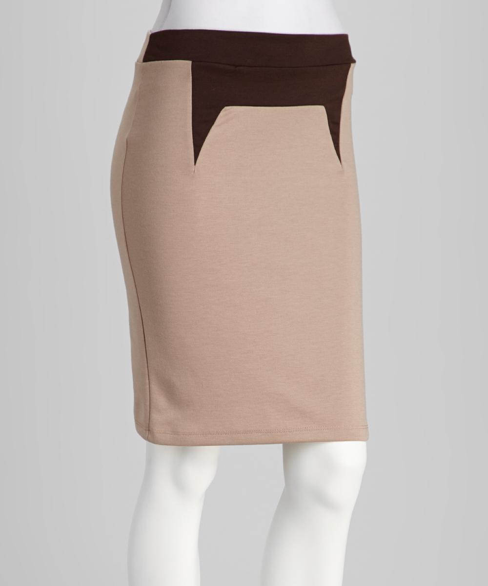 avital beige brown pencil skirt zulily