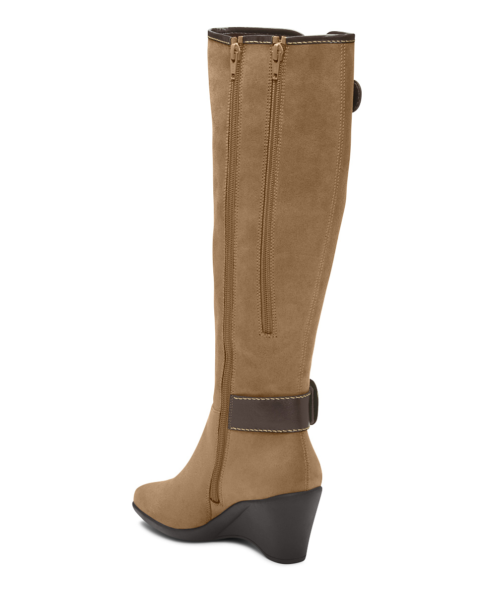 aerosoles wonderling wide calf wedge boot zulily