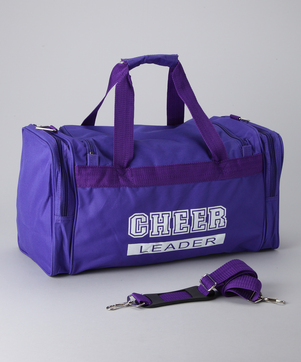 Purple  White 'Cheerleader' Duffel Bag