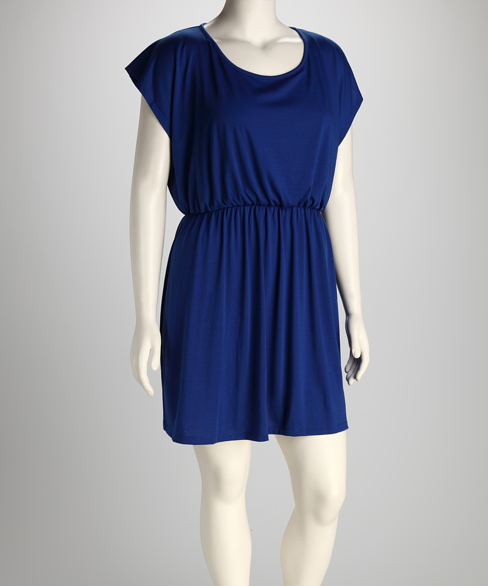 Delirious Apparel Royal Open Back Plus-Size Dress | zulily