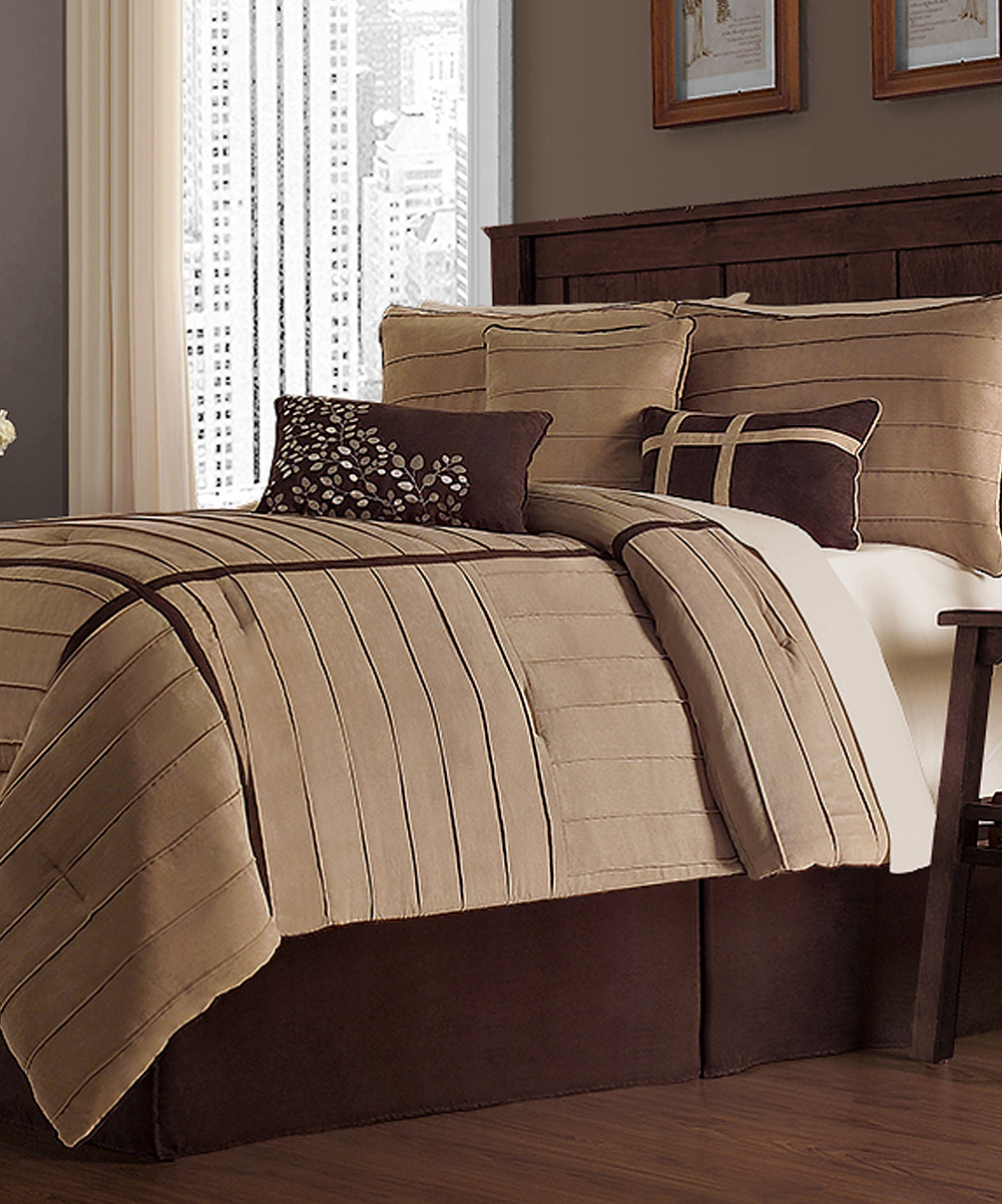 Victoria Classics Taupe Ellington Comforter Set Zulily