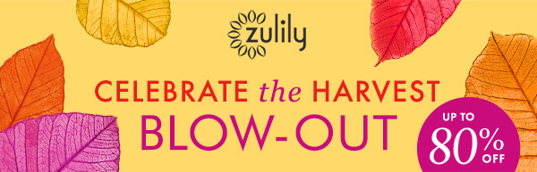 zulily - CELEBRATE the HARVEST BLOW-OUT - UP TO 80% OFF